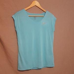 Blue Nike dri fit t shirt